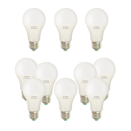 10 Bóng đèn Led 12w A60 tròn bup bulb kín chống nước tiết kiệm điện siêu sáng Posson LB-H12x