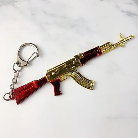 Móc khóa trong Game PUBG - Mẫu Ak Vàng Đỏ