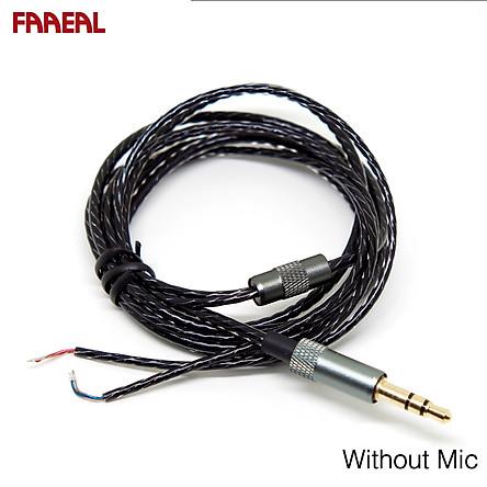 FAAEAL Earphone Repair Cable DIY Replacement 1.2m Audio Cable Headphone Repair Headset Cable Headphones Earphones Maintenance Wire For Headphone