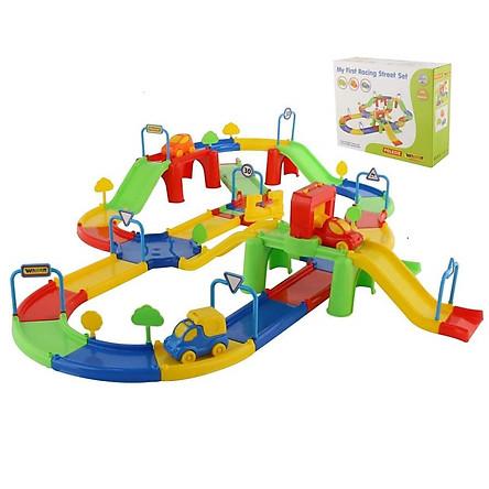 Bộ mô hình đồ chơi đường đua Số 3 - Wader Toys