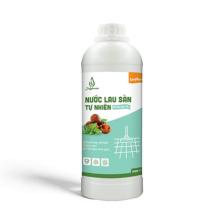 Nước lau sàn tự nhiên chiết xuất từ trái Bồ Hòn và tinh dầu Bạc Hà 1000ml JULYHOUSE hương thơm sảng khoái và đánh bay vết bẩn cứng đầu