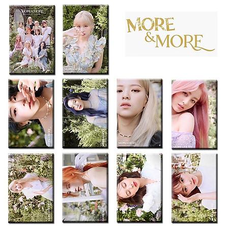 Bộ 10 thẻ ảnh dán card nhóm nhạc Twice More and More