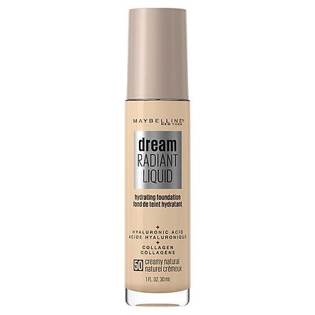 Maybelline Dream Radiant Liquid Foundation 50 Creamy Natural
