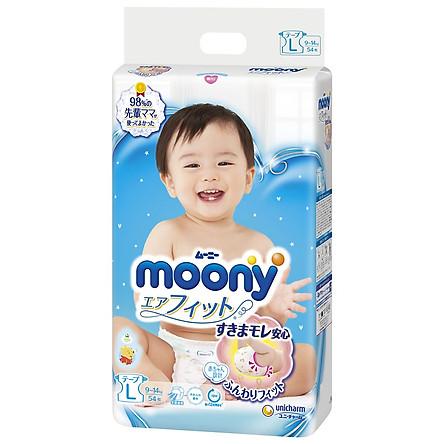 Combo 2 gói tã dán Moony cao cấp size NB90/S84/M64/L54/XL44 tặng cún bông và đồ chơi Toys House