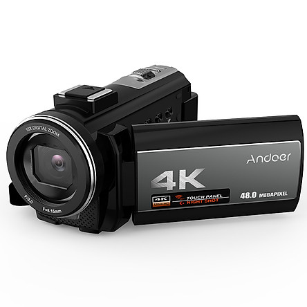 Máy Quay Video Kĩ Thuật Số Andoer Di Động 4K WiFi Với Micro Ngoài Và Ống Kính Góc Rộng 0.39X 3.0 (48MP)