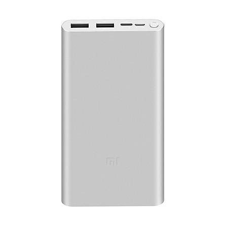 Pin Sạc Dự Phòng Xiaomi Gen 3 Version 2019 Polymer 10000mAh Tích Hợp Cổng Type-C PLM13ZM - Hàng Chính Hãng