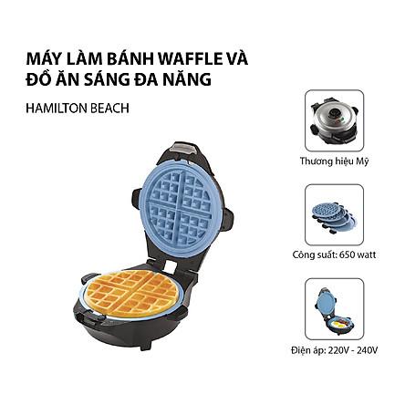 Máy làm bánh Waffle và đồ ăn sáng đa năng Hamilton Beach - 26049-IN - Hành nhập khẩu