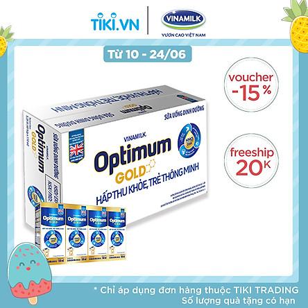 Thùng 48 Hộp Sữa Bột Pha Sẵn Vinamilk Optimum Gold 180ml