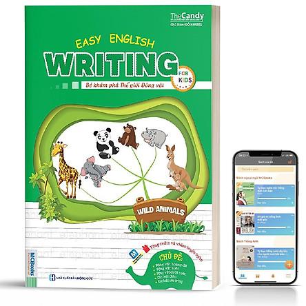Sách - Easy English writing for kids - Bé khám phá thế giới động vật ( tặng kèm bookmark sáng tạo )
