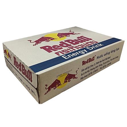 Thùng 24 Lon Nước Tăng Lực Red Bull (250ml x24 Lon)