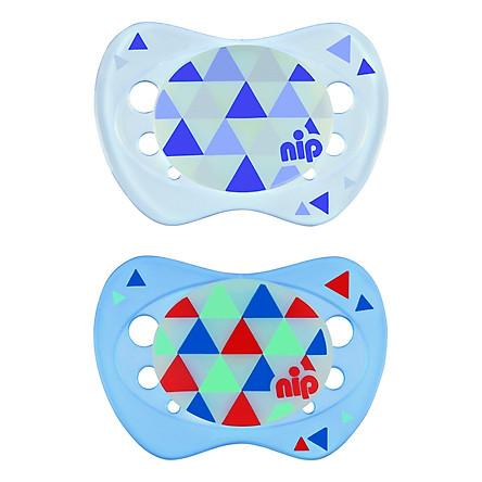 Bộ 2 Ti Ngậm Phát Sáng Ban Đêm Night Nip Silicon Nip31309 (Cỡ 1)