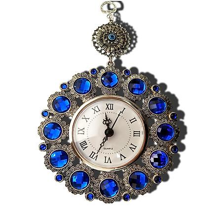 Đồng hồ treo tường mini - Đồng hồ đẹp màu xanh ngọc (kt 15x24,5cm)