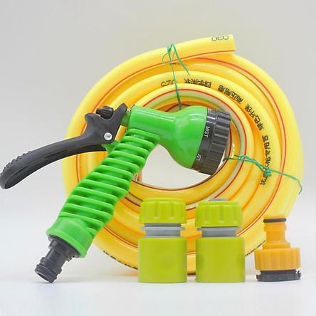 Bộ vòi xịt nước tưới cây, Rửa xe BDT-5211 Vòi nhựa 7 in 1 + 15m dây 16mm - màu ngẫu nhiên