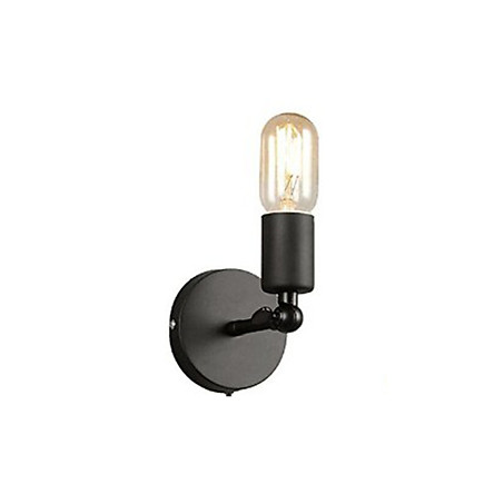 LED Simple Wrought Iron Bedside Light Retro Style Wall Lamp