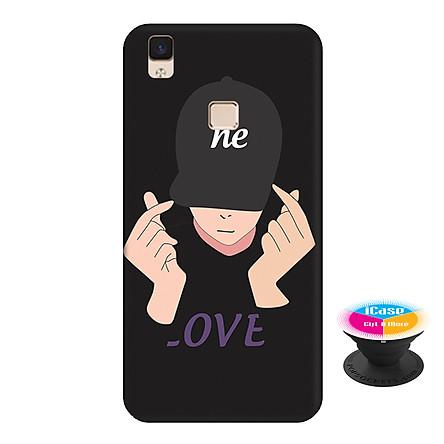 Ốp lưng nhựa dẻo dành cho Vivo V3 Max in hình He Style - Tặng Popsocket in logo iCase - Hàng Chính Hãng