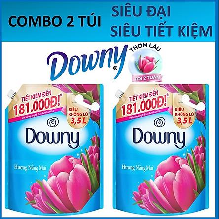 COMBO 2 túi Nước xả vải Downy Nắng mai 3.5LX2