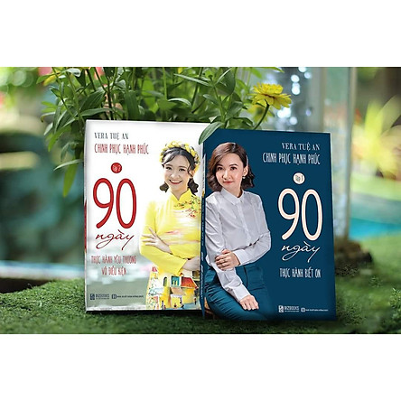 Combo 90 Ngày Thực Hành Biết Ơn, 90 Ngày Thực Hành Yêu Thương Vô Điều Kiện (2 Cuốn)
