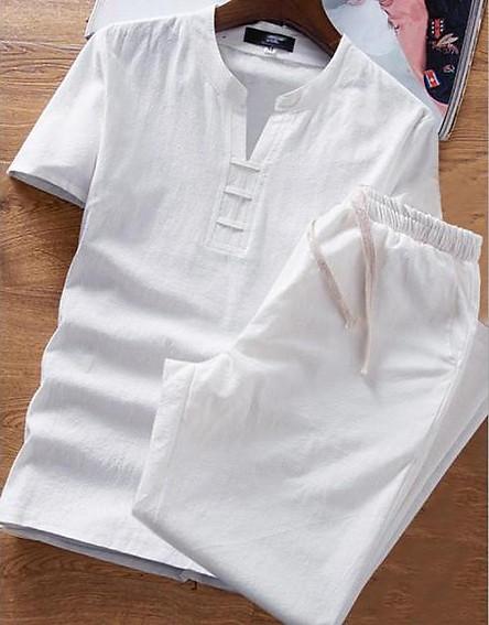 bộ đũi nam quần dài áo ngắn tay (mát - nhẹ - mặc như không)