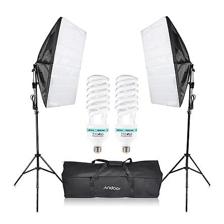 Bộ Đèn Chụp Ảnh Cho Studio (135W) (2 Đèn) (2 Chân Đèn)