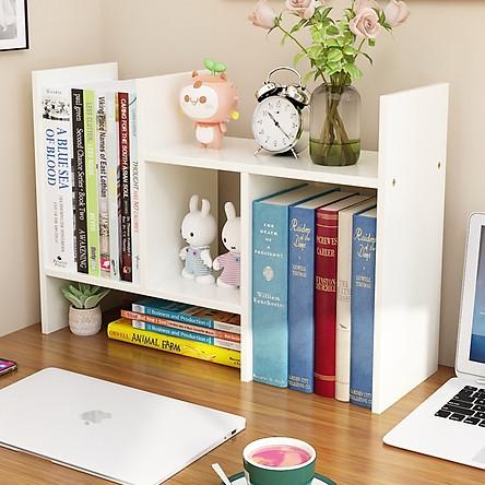 Kệ sách mini bằng gỗ, để trên bàn làm việc hoặc bàn học. Hàng tự lắp ghép đa năng, thông minh. Gồm 3 màu đẹp hiện đại.