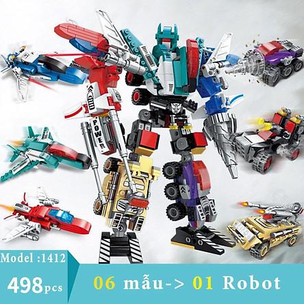 Bộ đồ chơi lắp ráp Robot Không Gian Kích thước 38*27 cm Bằng nhựa ABS an toàn