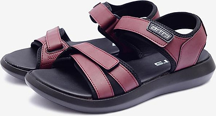 Giày Sandal Si PU Nam Biti's DPM027400DOO - Đỏ