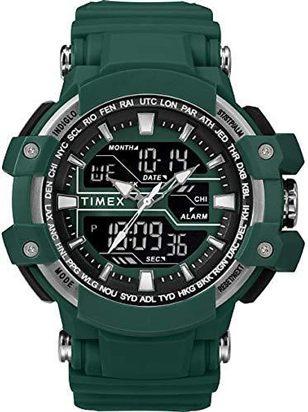 Timex Men's TW5M22600 Tactic DGTL Big Combo Dark Gray/Negative Resin Strap Watch