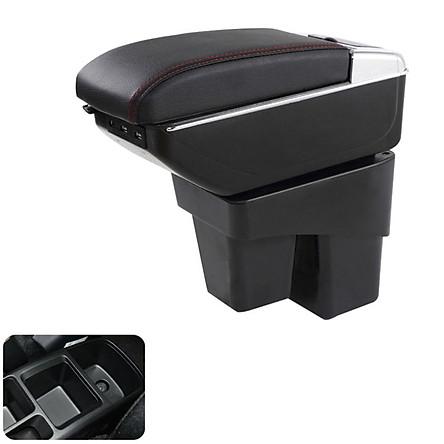 Hộp tỳ tay ô tô, xe hơi dùng cho xe Honda Jazz DUSB-HDJAZZ tích hợp 7 cổng USB