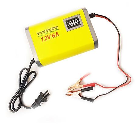 Sạc bình ắc quy 12V 6A 20Ah-80Ah tự động thông minh