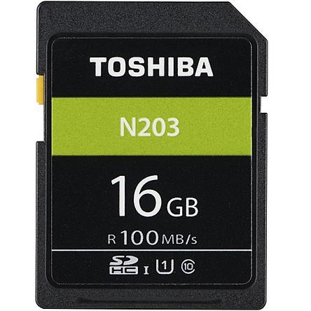 Thẻ nhớ Toshiba SDHC 16gb  100Mb/s -N203 - Hàng Chính Hãng