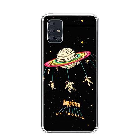 Ốp lưng điện thoại Samsung Galaxy A51 - Silicon dẻo - 0311 SPACE02 - Hàng Chính Hãng