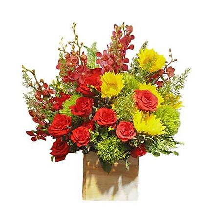 Hộp hoa tươi - Rực Cháy Tình Nồng 3341