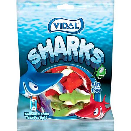 Kẹo Dẻo Hình Cá Mập Vidal (Gói 100g)