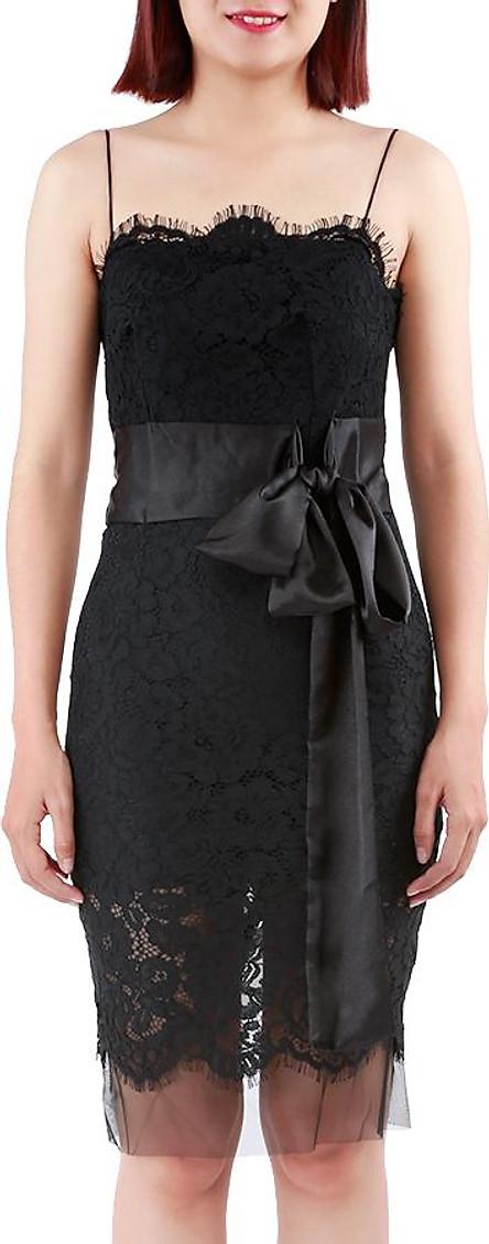 Đầm Nữ Ren Ôm Body Elip Dress Thắt Nơ Eo Quyến Rũ