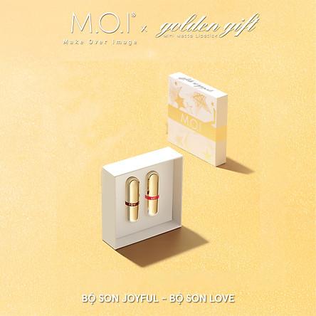 Set 2 Son Môi M.O.I Hồ Ngọc Hà Son Thỏi Love (Golden Gift)