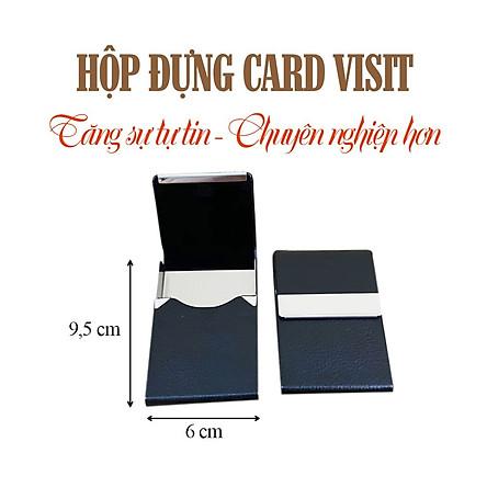 Hộp Đựng Card Visit Chất Liệu Da PU Cao Cấp, Nắp Mở Đứng, Tăng Sự Chuyên Nghiệp Cho Dân Văn Phòng