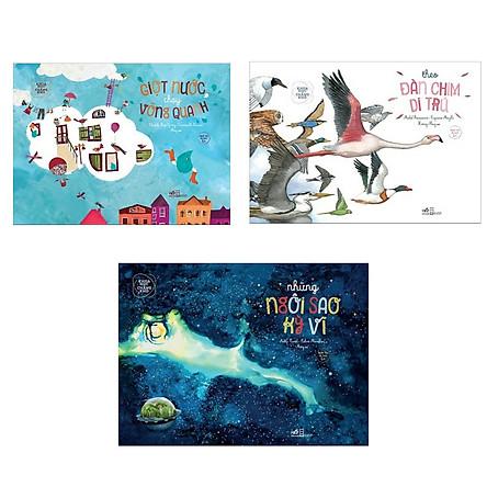 Combo 3 cuốn Khoa Học Chẳng Khó : Giọt Nước Chạy Vòng Quanh + Theo Đàn Chim Di Trú + Những Ngôi Sao Kỳ Vĩ ( Tặng kèm Bookmark Thiết kế)