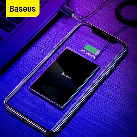 Đế sạc không dây Baseus Card Ultra-thin 15W, thiết kế chống nước IP67 siêu mỏng 0.3cm, chuẩn Qi cho iPhone 8/X/Xs/XR/XS Max, Samsung Note 8/9/10, S7/S8/S9/S10 - Hàng Chính Hãng