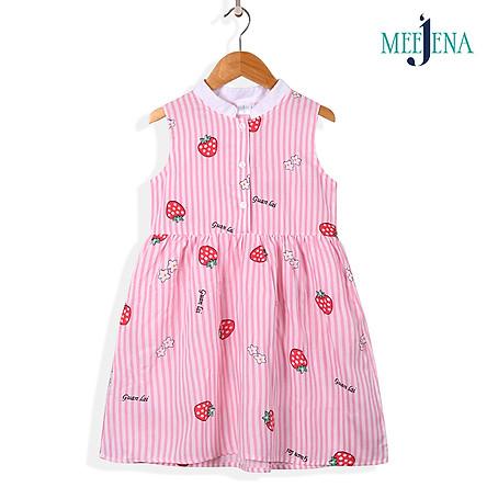 Váy Bé Gái Sát Nách Vải Tole In Trái Dâu 14-38 kg MEEJENA - 1025