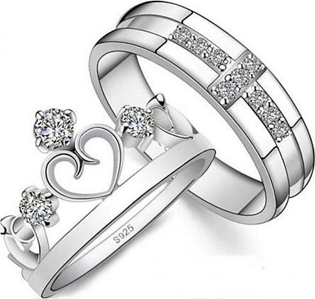 Nhẫn đôi bạc, nhẫn đôi bạc 925 - ND3 - trang sức Bạc Quang Thản (BẠC)
