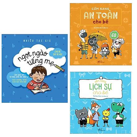 Combo 3 Cuốn Cẩm Nang Cho Bé: Cẩm Nang An Toàn Cho Bé + Cẩm Nang Lịch Sự Cho Bé (Tái Bản) + Ngọt Ngào Tiếng Mẹ / Bộ Sách Kiến Thức Bách Khoa - Tặng Kèm Bookmark Happy Life