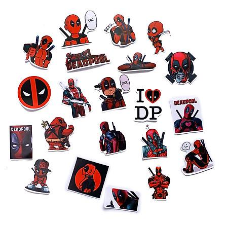 Bộ 20 Sticker Deadpool Màu Đỏ Đen (2020) Hình Dán Chủ Đề Phản Anh Hùng Siêu Bựa Hài Hước Vui Vẻ Chống Nước Decal Chất Lượng Cao Trang Trí Va Ly Du Lịch Xe Đạp Xe Máy Xe Điện Motor Laptop Nón Bảo Hiểm Máy Tính Học Sinh Tủ Quần Áo Nắp Lưng Điện Thoại