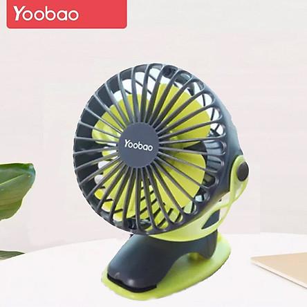(Hàng chính hãng) Quạt mini kẹp Yoobao Y- F04 pin siêu bền dùng thoải mái 2 ngày liền với 4 Cấp, êm ái, an toàn, mang lại cảm giác mát mẻ ngay cả trong ngày hè nóng nực ( Pin siêu khủng 6400mAh cho thời gian dùng từ 15-32 giờ)