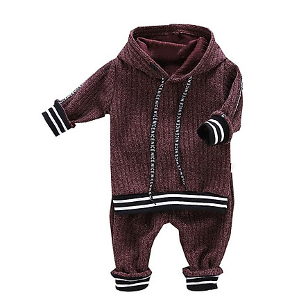Autumn Baby Boy Clothes Outfits 2pcs Long Sleeve Striped Letters Hoodie Sweatshirt+Trousers Pants Casual Sets