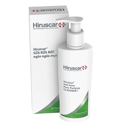 Sữa Rửa Mặt Ngừa Mụn Hiruscar Anti-Acne Cleanser + 100ml