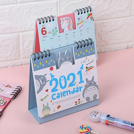 Lịch Bàn, Lịch Lò Xo Để Bàn Totoro 2021