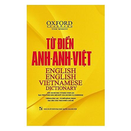 Từ Điển Oxford Anh - Anh - Việt (Bìa Vàng) (Tặng kèm iring siêu dễ thương s2)