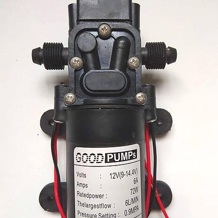 Máy bơm mini tăng áp lực nước 12V - 6A lưu lượng 6L/phút