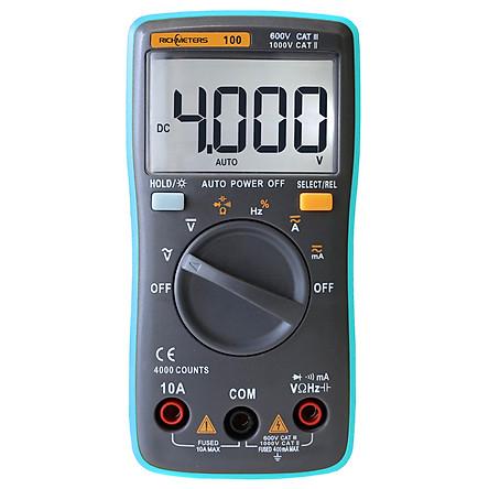 Đồng Hồ Đa Năng Kỹ Thuật Số Tự Động Rm102 True Rms Đo Dòng Điện AC/DC Đo Điện Trở Diode RM102 Richmeters