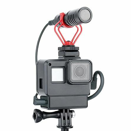 Ulanzi V2 Vlog Case Housing Shell For GoPro Hero 5 6 7 Vlogging Cage Frame Black